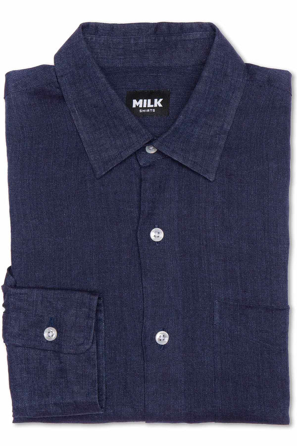 Dhillon Denim Blue Linen Shirt