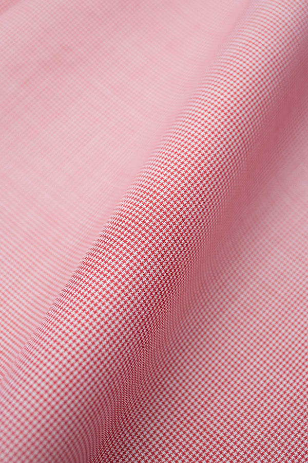 Eros 120s Red Mini Houndstooth Fabric