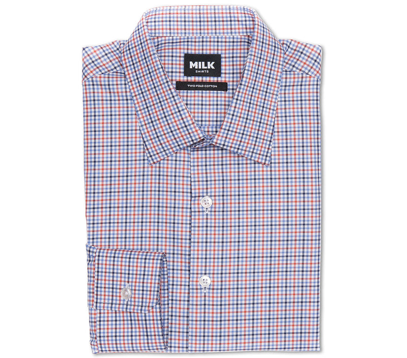 Jordan 100s Red Blue Check Shirt