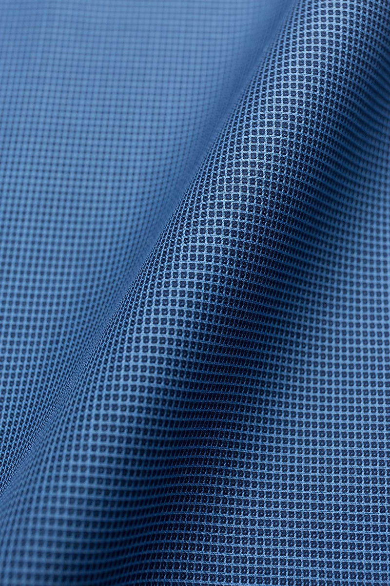 Jurong 80s Blue Textured Cotton Fabric