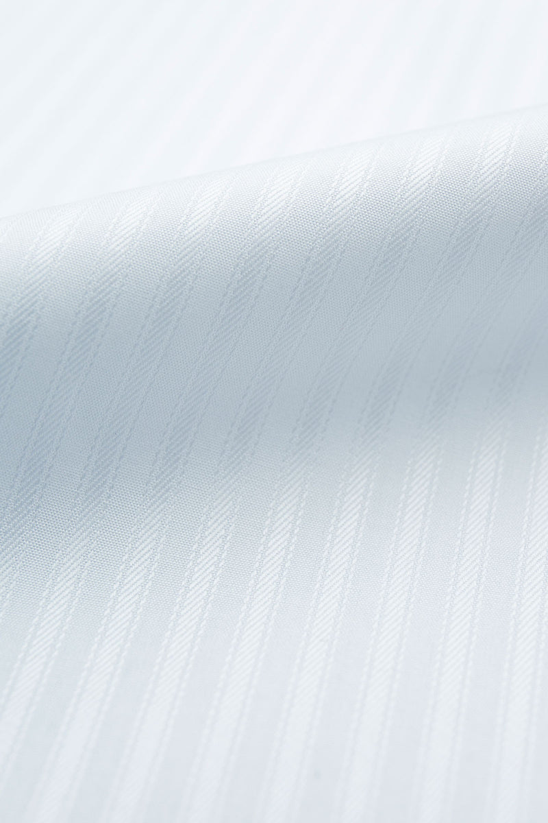 Leeko 140s Striped Poplin Fabric