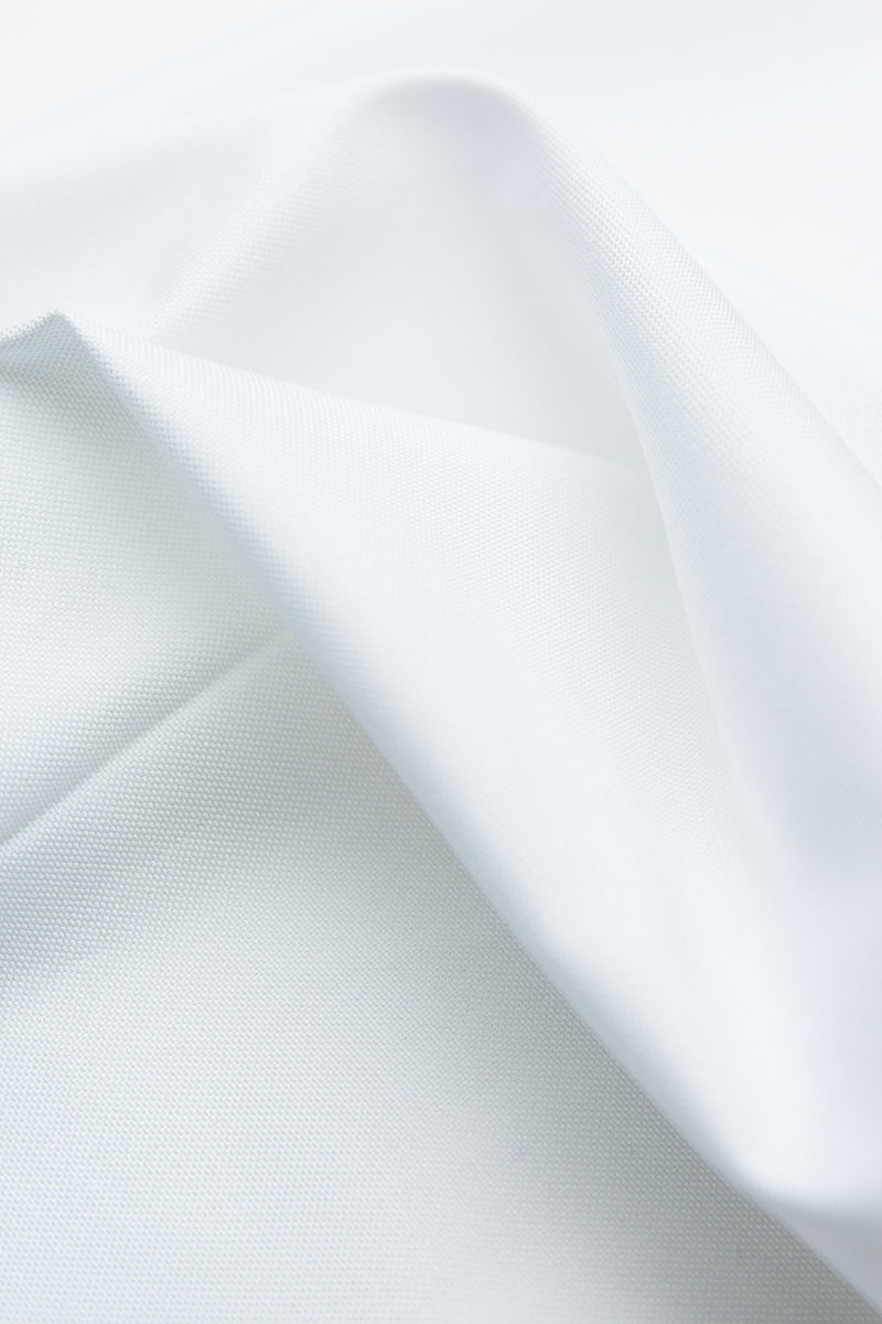 Lux 80s White Pinpoint Fabric