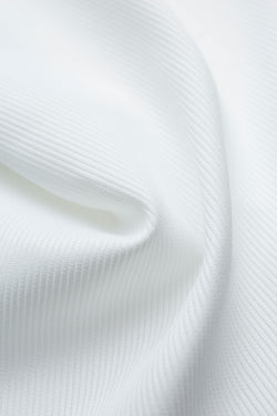 Mason White Ribbed Piquet Fabric