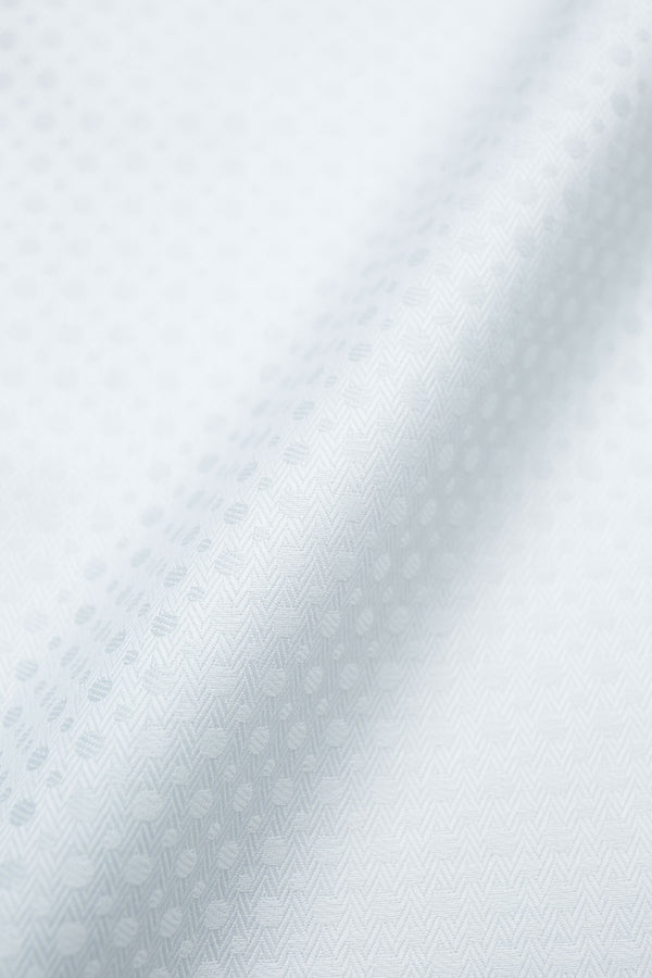 Octance 120s White Patterned Jacquard Fabric