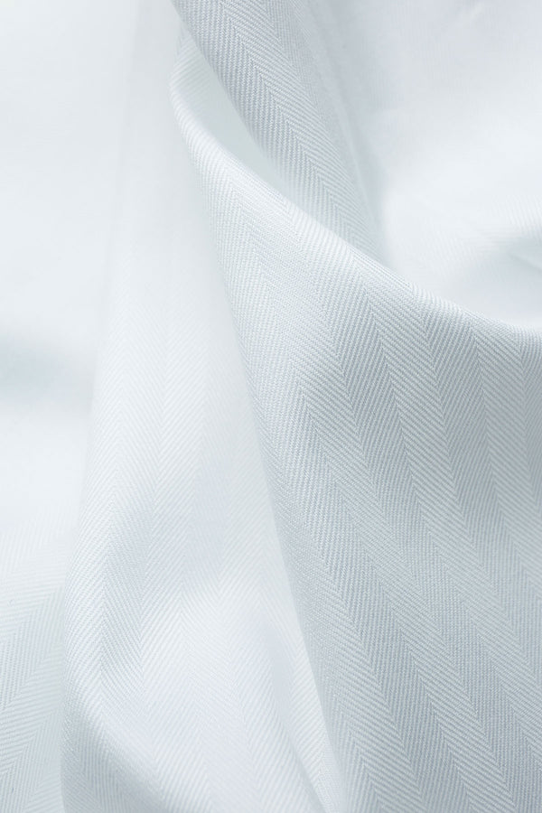 Olay 90s White Herringbone Fabric