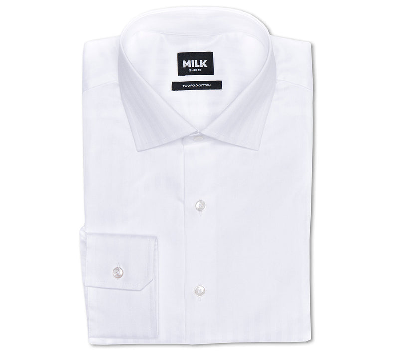 Olay 90s White Herringbone Shirt