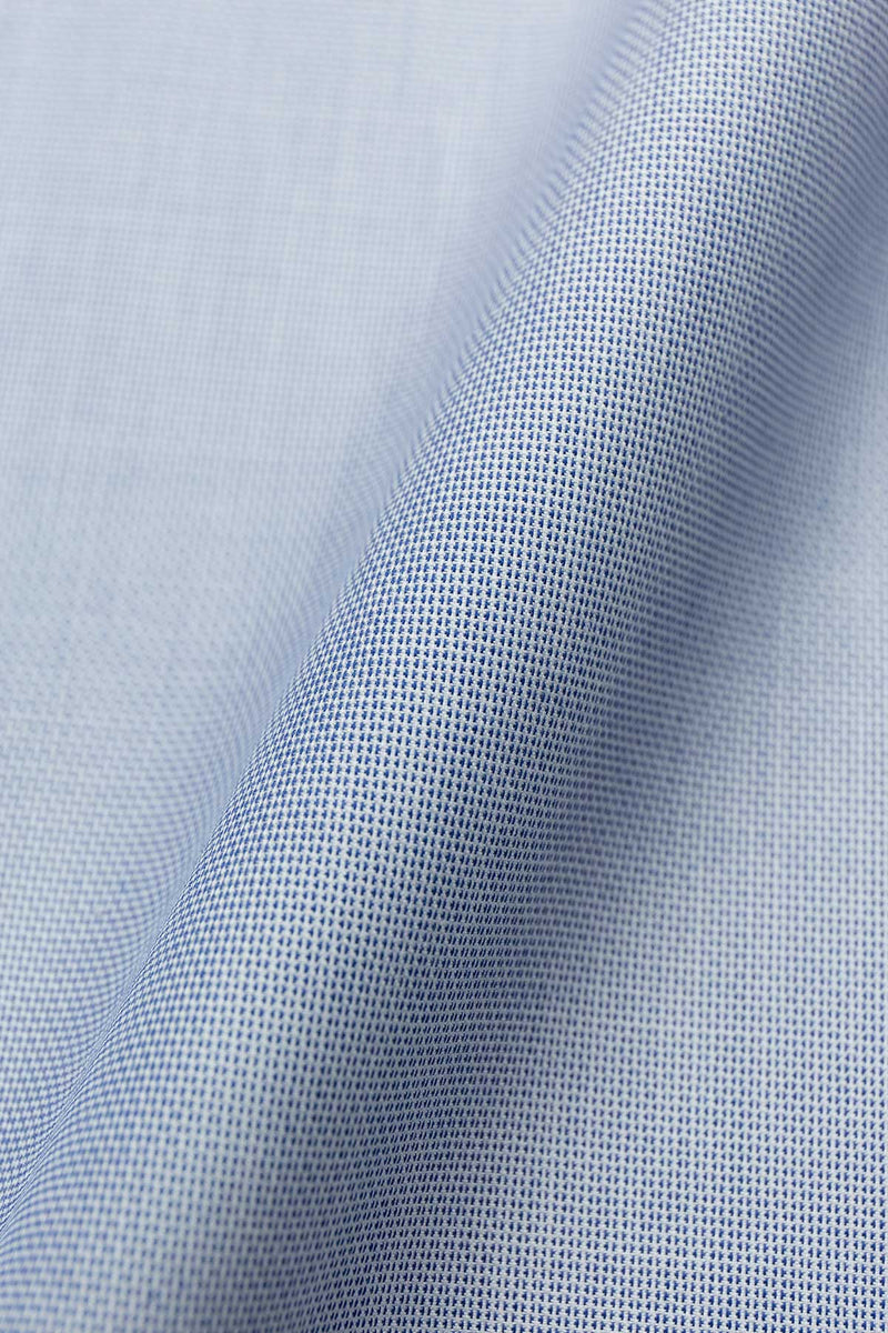 Pluto 100s Smoke Blue Dobby Fabric