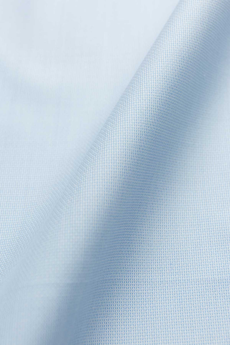 Poker 100s Light Blue Dobby Fabric