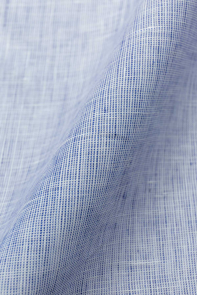 Tango Blue Chambray Linen Fabric