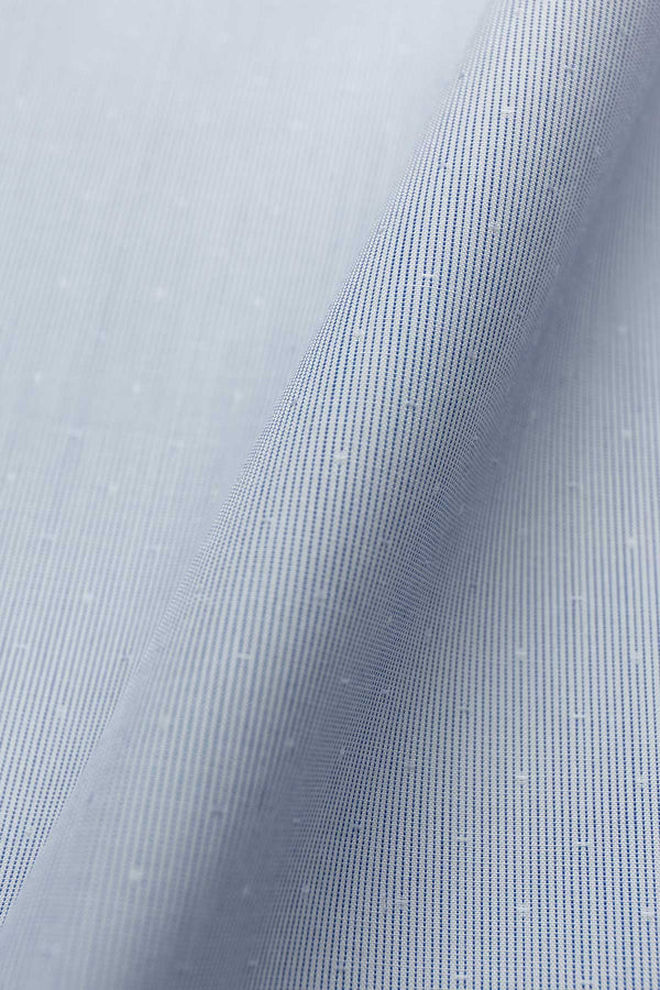Tetra 100s Light Blue Dobby Fabric