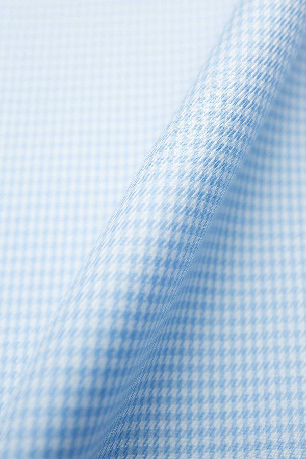 Vevo 100s Light Blue Houndstooth Fabric