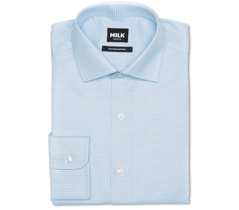 Vevo 100s Light Blue Houndstooth Shirt
