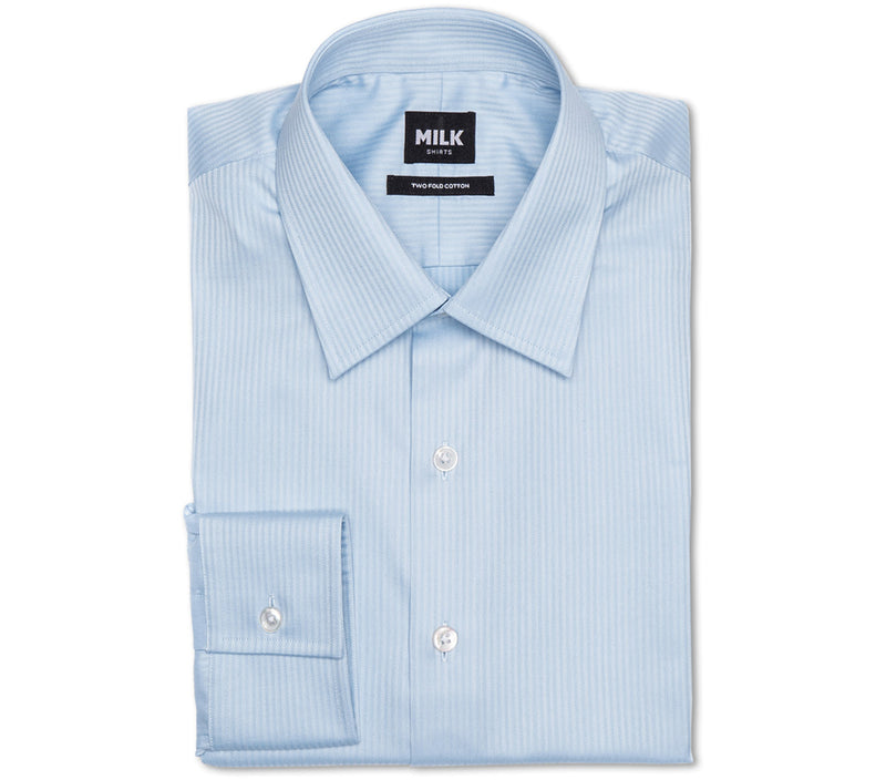 Zebra 80s Blue Herringbone Shirt
