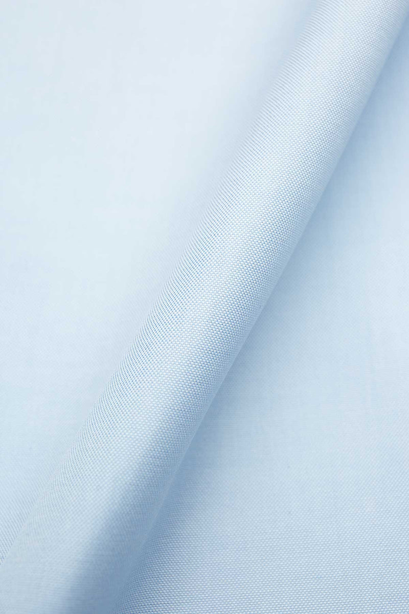Zeus 80's Light Blue Pinpoint Fabric