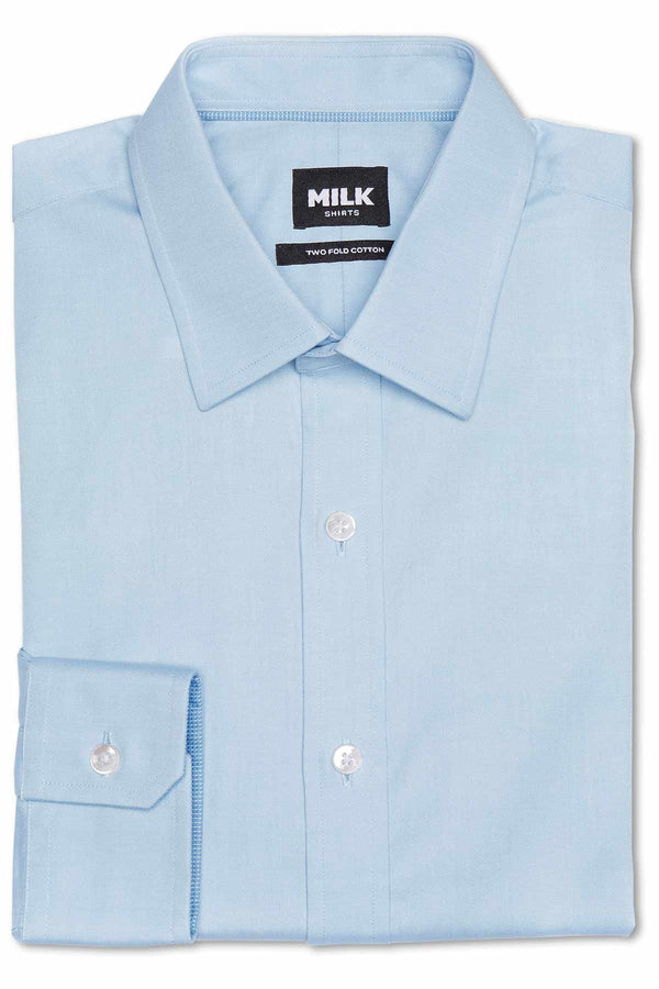 Zeus 80's Light Blue Pinpoint with contrast Shirt
