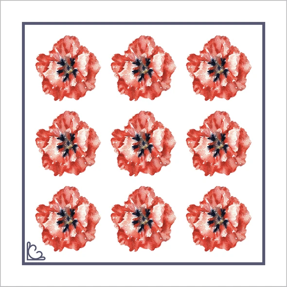 Poppies Silk Pocket Square