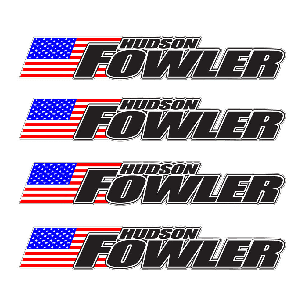Hudson style custom cycling rider name decal set jrs decals