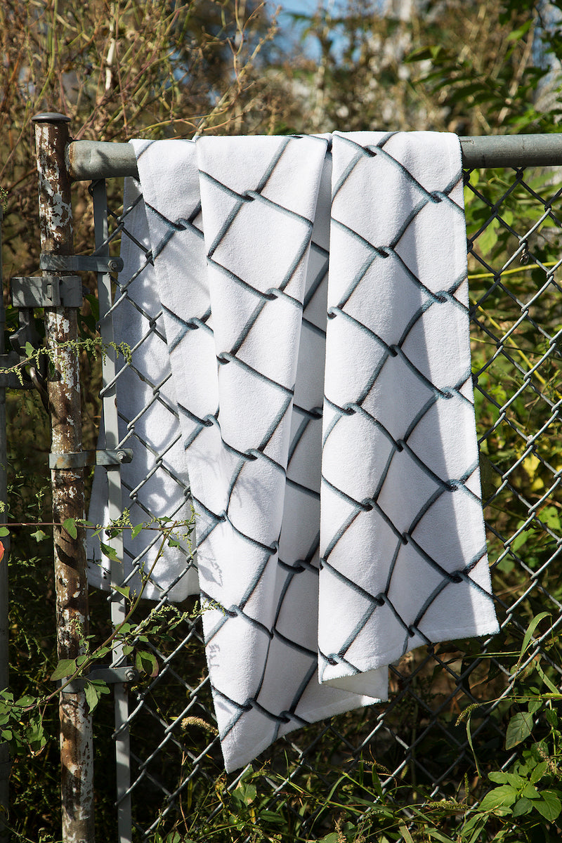 White chain print towel, Minnow Bathers 2016 Collection