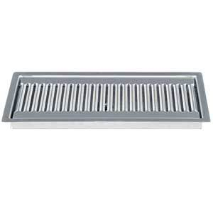 "12"" Stainless Steel Flush Mount Drip Tray, w/ Drain"