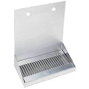 "12"" Stainless Steel Wall Mount Drain Tray - 2 Faucet"