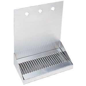 "12"" Stainless Steel Wall Mount Drain Tray - 3 Faucet"