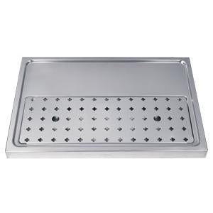 "15-3/4"" Stainless Steel Drip Tray, 1-2 faucets without rinser"