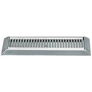 "16"" Stainless Steel Bevel Edge Drip Tray, With Drain"