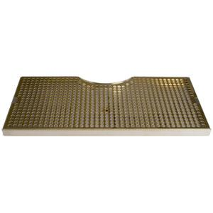 "19"" SS/PVD Brass Cut-Out Surface Mount, 7 1/2"" Column"