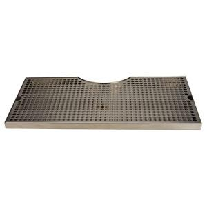 "19"" Surface Mount Cut-Out Drain Tray, 7 1/2"" Column"