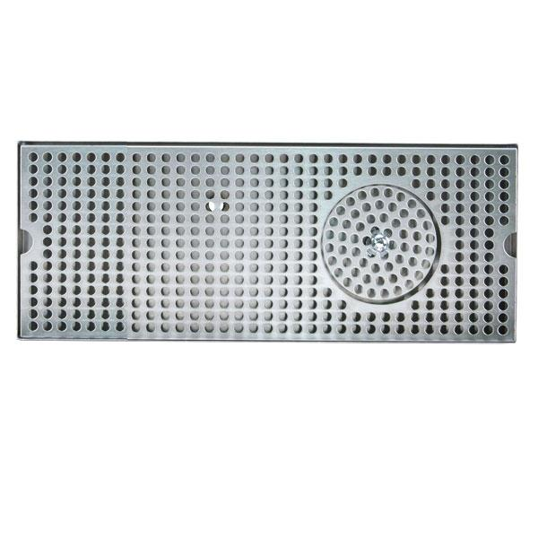"12"" Stainless Steel Glass Rinser Drain Tray, 2-4 Faucets"