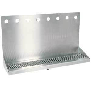 "24"" Stainless Steel Wall Mount Drain Tray - 8 Faucet"