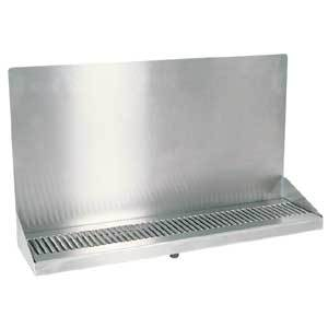 "24"" Stainless Steel Wall Mount Drain Tray"