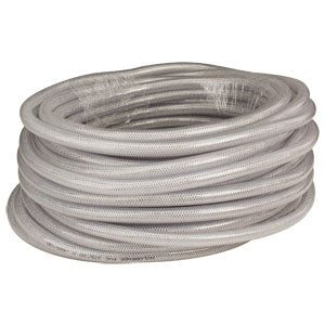 "100' coil, 5/16"" ID, clear braided tubing"