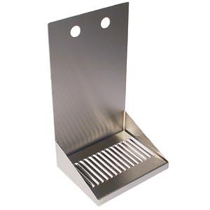 "8"" Stainless Steel Wall Mount Drain Tray - 2 Faucet"