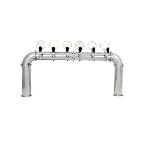 Beer Tower 6 Tap Stainless Pass-Thru ARCADIA 6W, Glycol