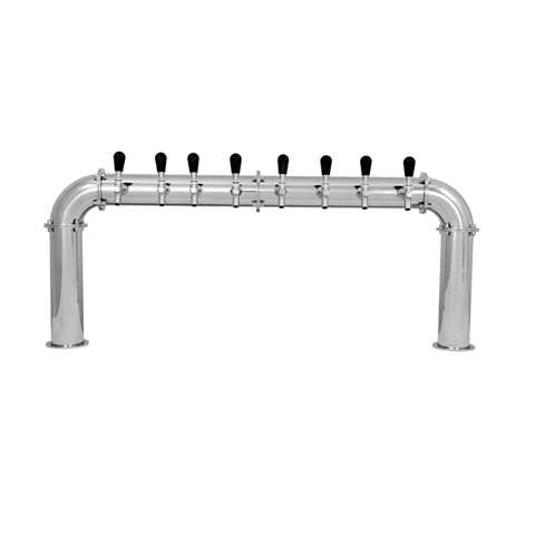 Beer Tower 8 Tap Stainless Pass-Thru ARCADIA 8, Glycol