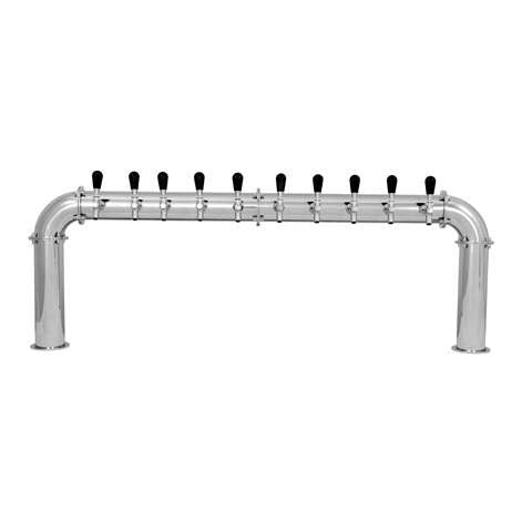 Beer Tower 10 Tap Stainless Pass-Thru ARCADIA 10, Glycol