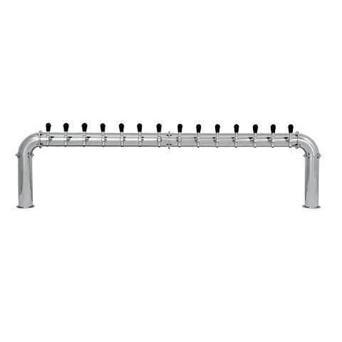 Beer Tower 14 Tap Stainless Pass-Thru ARCADIA 14, Glycol