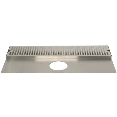 "Image of 24"" Stainless Steel Surface Mount Drain Tray, w/ Tower Plate"
