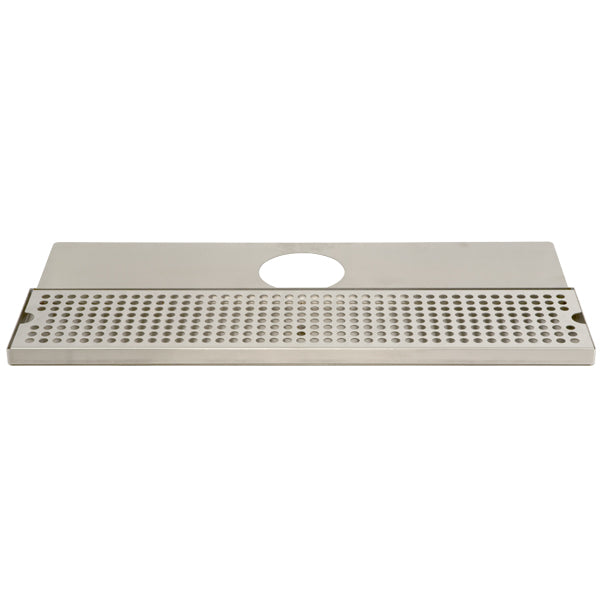 "24"" Stainless Steel Surface Mount Drain Tray, w/ Tower Plate"