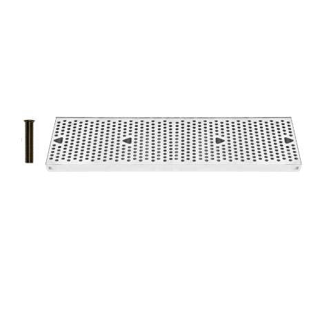 Drip Tray 24 Inch Surface Mount, Counter Top, Stainless Steel