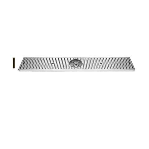 Drip Tray 36 Inch, Surface Mount, Counter Top, Stainless Steel With Rinser