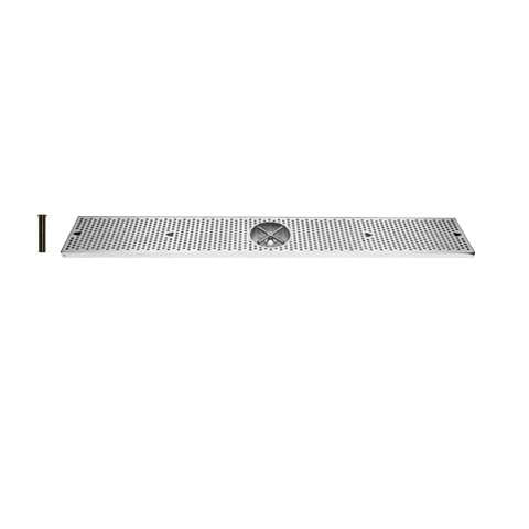Drip Tray 45 Inch Surface Mount, Counter Top, Stainless Steel With Rinser