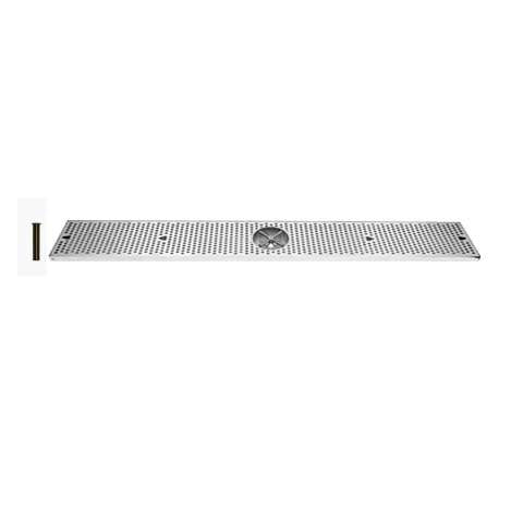 Drip Tray 48 Inch Surface Mount, Counter Top, Stainless Steel With Rinser