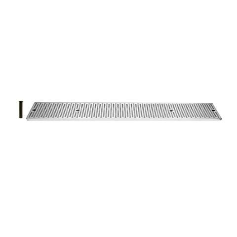 Drip Tray 48 Inch Surface Mount, Counter Top, Stainless Steel