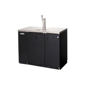 Everest EBDS2-BB-24 direct draw beer dispenser & back bar cooler, 1 tap, laminated black vinyl, front left side