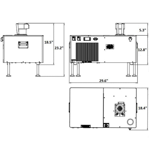Image of UBC Glycol Power Pack Tayfun Horizontal H35G-3/8T, measurements