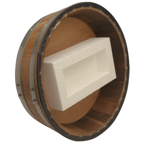 Image of Solid Oak Barrel Head