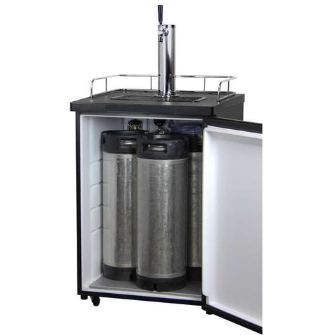 Image of K209SS-1-Full Size Draft Beer Dispenser - Single Faucet - D System - Stainless Steel Door