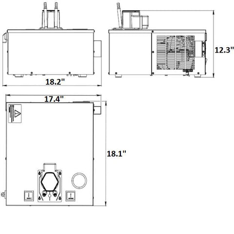 Image of UBC Glycol Power Pack Kalinka-Ice KG-1/6T, measurements
